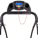 AW 1100W Folding Electric Treadmill - LCD