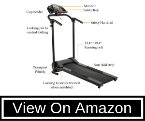 ZELUS Folding Treadmill